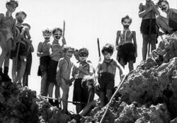 British school boys become savages in Lord of the Flies.