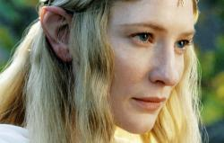 Cate Blanchett in Lord of the Rings: The Fellowship of the Ring.