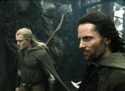 Orlando Bloom and Viggo Mortensen in Lord of the Rings: The Return of the King.