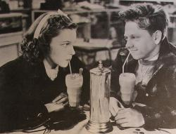 Judy Garland and Mickey Rooney in Love Finds Andy Hardy.
