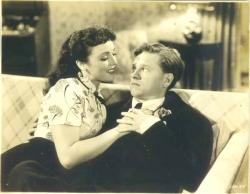 Lina Romay and Mickey Rooney in Love Laughs at Andy Hardy.