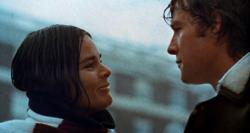Ali MacGraw and Ryan O'Neal in Love Story.