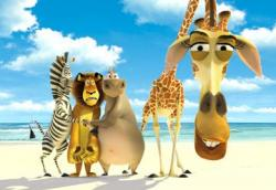 Chris Rock, Ben Stiller, Jada Pinkett Smith and David Schwimmer provide the voices of the animals in Madagascar.