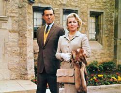 John Forsythe and Lana Turner in Madame X.