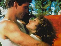 Mel Gibson and Joanne Samuel in Mad Max