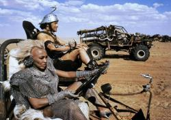 Tina Turner and Angry Anderson in Mad Max Beyond Thunderdome.