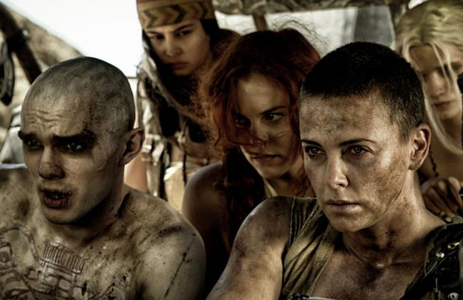 Nicholas Hoult and Charlize Theron in Mad Max: Fury Road.