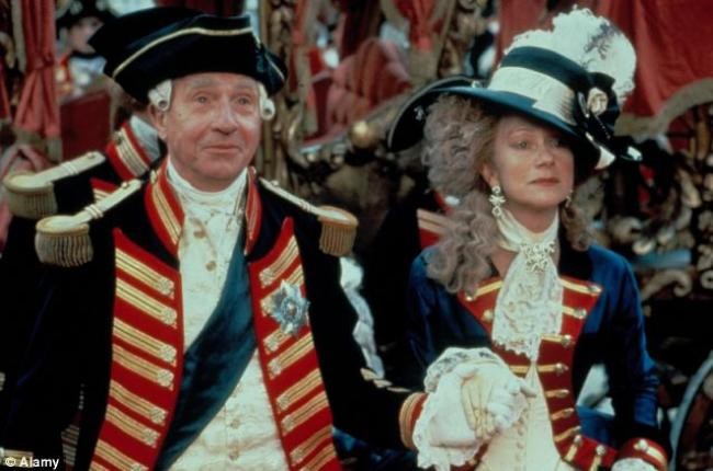 Nigel Hawthorne and Helen Mirren in The Madness of King George.