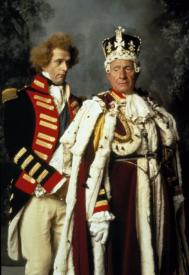 Rupert Everett and Nigel Hawthorne in The Madness of King George