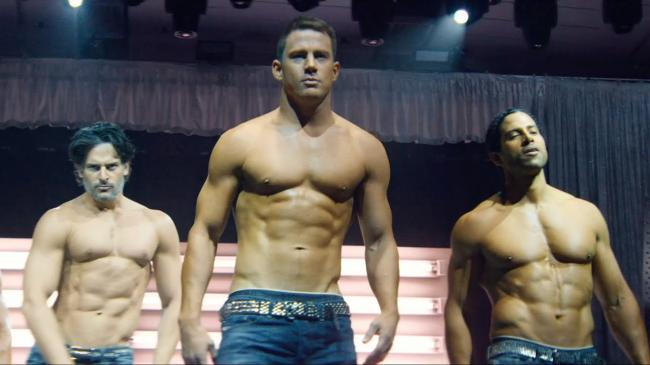 Joe Manganiello, Channing Tatum and Adam Rodriguez in Magic Mike XXL.
