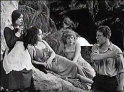 Lila Lee, Gloria Swanson, Mildred Reardon and Thomas Meighan in Male and Female.