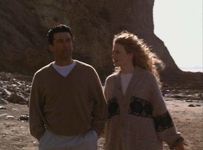 Alec Baldwin and Nicole Kidman in Malice.