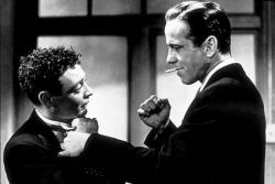 Peter Lorre and Humphrey Bogart in The Maltese Falcon.