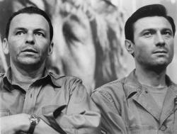 Frank Sinatra and Laurence Harvey in The Manchurian Candidate.