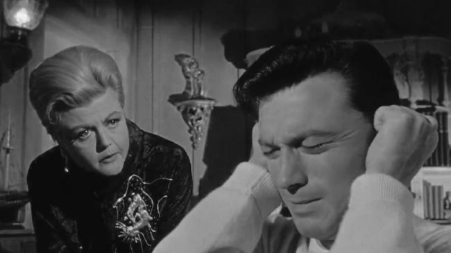 Angela Lansbury and Laurence Harvey in The Manchurian Candidate
