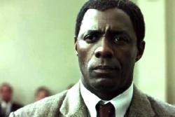Idris Elba as Nelson Mandela in Mandela: Long Walk to Freedom.