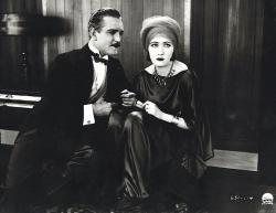 Frank Morgan and Gloria Swanson in Manhandled.