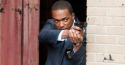 Anthony Mackie as Detective Mike Ackerman in Man on a Ledge.  Did he live or die?