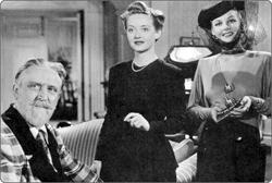 Monty Woolley, Bette Davis and Ann Sheridan in The Man Who Came to Dinner.