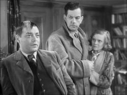 Peter Lorre, Leslie Banks and Edna Best in The Man Who Knew Too Much.