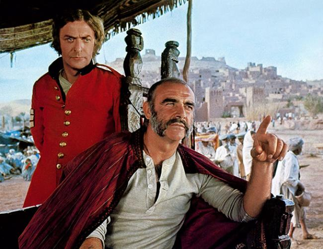 Michael Caine and Sean Connery in The Man Who Would Be King.