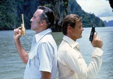 Slowly, Roger Moore is working himself into the part.