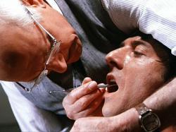 Laurence Olivier and Dustin Hoffman in Marathon Man.