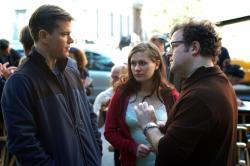 Matt Damon and Anna Paquin taking direction from Kenneth Lonergan