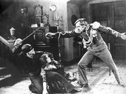Douglas Fairbanks and Robert McKim in The Mark of Zorro.