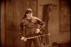 Fairbanks as Zorro.