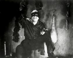 Douglas Fairbanks swashes a buckle as Zorro in The Mark of Zorro.