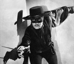 Tyrone Power in The Mark of Zorro.