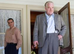Joaquin Phoenix and Philip Seymour Hoffman in The Master.