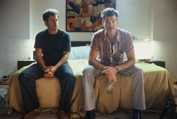 Greg Kinnear and Pierce Brosnan in The Matador.