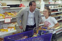 Nicolas Cage and Alison Lohman in Matchstick Men.