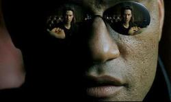 Laurence Fishburne in The Matrix.