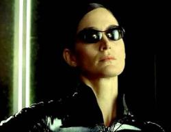 Carrie-Anne Moss as Trinity in The Matrix Reloaded.