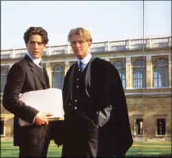 Hugh Grant and James Wilby in Maurice.
