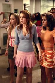 Amdanda Seyfried, Lindsay Lohan and Lacey Chabert in Mean Girls.