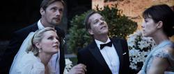 Kirsten Dunst, Alexander Skarsgard, Keifer Sutherland and Charlotte Gainsbourg in Melancholia