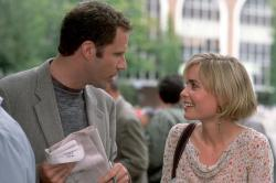 Will Ferrell and Radha Mitchell in Melinda and Melinda.