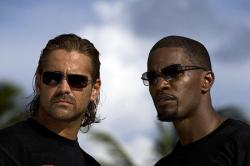 Colin Farrell and Jamie Foxx in Miami Vice.