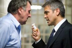 Tom Wilkinson and George Clooney in Michael Clayton.