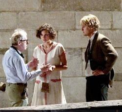 Woody Allen directing Marion Cotillard and Owen Wilson