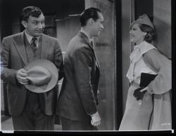 Andy Devine, Franchot Tone and Loretta Young in Midnight Mary.