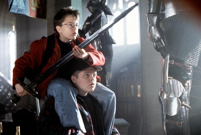 Kieran Culkin and Elden Henson in The Mighty.