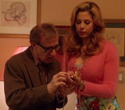 Woody Allen and Mira Sorvino in Mighty Aphrodite.