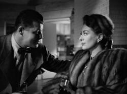 Jack Carson and Joan Crawford in Mildred Pierce.