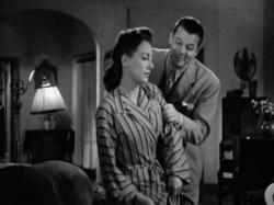 Joan Crawford and Jack Carson in Mildred Pierce