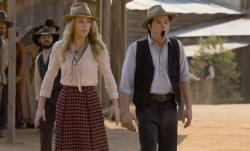 Charlize Theron and Seth MacFarlane in A Million Ways to Die in the West.